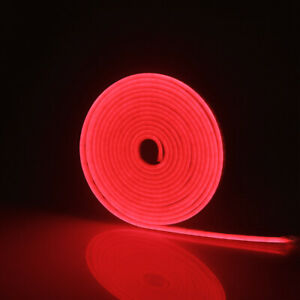 LED Strip Neon Lights 120LEDs/M Waterproof Silicone Tube + US/EU Power Adapter