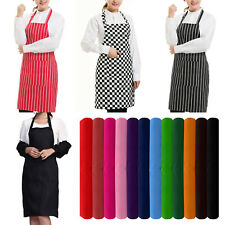 PLAIN APRON WITH FRONT POCKET CHEFS BUTCHERS KITCHEN COOKING CRAFT BAKING