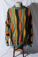COOGI Australia Men's Colorful Retro Hip Hop Biggie Cosby Sweater L