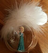 BOULE / ball ELSA PLUME BLANCHE / White Feather Disneyland Paris Christmas