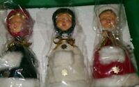 Vintage Caroling Cuties Christmas Caroler Bobble Bobbleheads 3 Rare X-Mas Nice