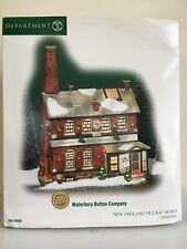 "Dept 56 New England Village ""Waterbury Button Company"""