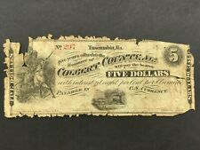Usa 5 Dollars Obsolete - Colbert County, Alabama Tuscumbia 1872 Low Grade