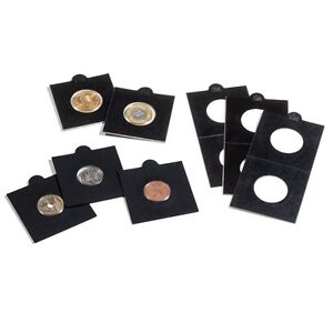 Lighthouse Self Adhesive Coin Holders Black Matrix Quantity 10 to 100 many sizes