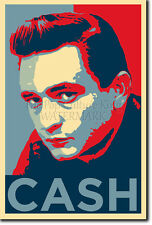 JOHNNY CASH ART PHOTO PRINT 4 POSTER GIFT (BARACK OBAMA HOPE PARODY)