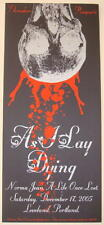 2005 As I Lay Dying - Portland Silkscreen Concert Poster by Wrecking Crew