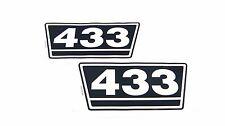 2 Typenaufkleber / Aufkleber / Decal Kit / Emblem passend für Case IH / IHC 433