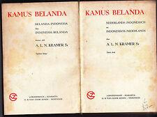 KRAMER'S KAMUS BELANDA ( NETHERLANDS-INDONESIAN DICTIONARY ) 1953 HB
