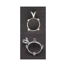 (3mm - 14mm) Solid Sterling Silver Round Cabochon Pendant Setting