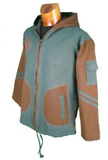 VESTE CAPUCHE NEPAL doublé POLAIRE Spirale Blouson sweat chemise sarouel Inde V5