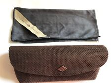 Joseph Abboud Glasses sunglasses Case Spectacle Empty Brown Logo Cleaning Cloth