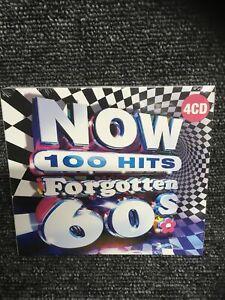 NOW 100 HITS FORGOTTEN 60'S [4 CD] NEW & SEALED Free Post U.K.