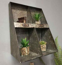 Industrial Metal 4 Pigeon Hole Wall Mountable Unit Storage Display Shelving New