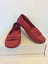 UGG FUSCHIA PINK LEATHER LOAFER FLATS SIZE 6.5 /39.5