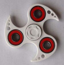 WHITE NINJA Fidget 3D Printed Hand Spinner With Red Steel Bearings  _  EDC - USA