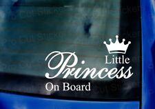 Little Princess on Board Voiture Van Fenêtre Pare Choc Vinyle Découpées Autocollant Decal