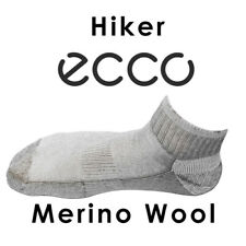 Taupe Merino Wool Men's Hiker Ecco Comfort Performance Fine Non-Itch Ankle Socks