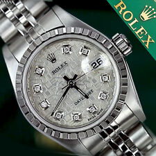 Women's Rolex Datejust 26mm Diamond Silver Metal Plated Face & Steel Jubilee