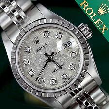 Women's Rolex Datejust 26mm Diamond Silver Metal Plated Face & Steel Jubilee