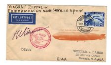 Germany Stamp SC #C38 Cover Graf Zeppelin Flight Hugo Eckener Signed Autograph