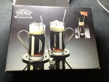 More details for menu/danish steel house 2-pc glass stainless steel irish coffee mugs bent falk