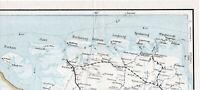 Borkum Norden Esens Jever 1930 orig. Post-Eisenbahn-Teilkarte Wittmund Dornum