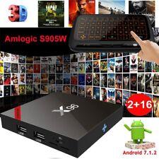2+16GB Android 7.1.2 Nougat Smart TV BOX Quad Core WIFI 4K Movies HDMI+Keyboard