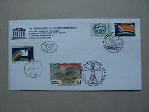 UNITED NATIONS VIENNA UNESCO,  cover FDC 1986, Int. Year of Peace, pigeon