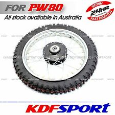 KDF PW80 PY80 FRONT RIM WHEEL TYRE FOR YAMAHA COYOTE80 PW PY 80 HUB PARTS JS LC
