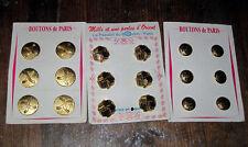 lots de 18  boutons ancien    sur 3  plaques  BOUTONS VINTAGE