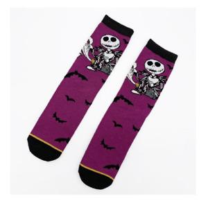 The Nightmare Before Christmas Jack Skellington Mens Socks Halloween Gift Purple