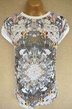 TOPSHOP loose fit diamond print t-shirt 6 Oversized