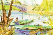 Vincent van Gogh Fishing in Spring the Pont de Clichy - Poster 24x36 inch