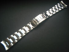 Oyster Band Bracelet For Rolex Watch 20Mm Polished Center Thicker Fliplock Clasp