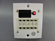 IVO Industries NE638.4, Counter with Reset 115VAC, 5 Digit, NOS In Box! NE 638.4