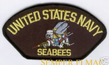 SEABEES HAT PATCH US NAVY PIN UP VETERAN GIFT CB Construction Battalions GIFT