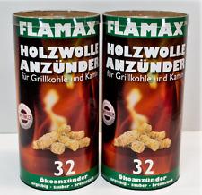 Flamax Holzwolle Öko Anzünder Kaminofen Bioanzünder Grillanzünder Feuerstarter