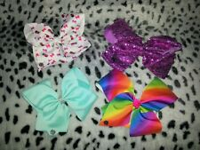 JOJO BOWS x 4 Various Colours - Large Bows