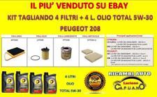KIT TAGLIANDO PEUGEOT 208 1.4 HDI 68CV 50KW DAL 03/2012 + OLIO MOTORE TOTAL 5W30