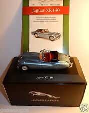 EDITIONS ATLAS JAGUAR XK 140 BLEU METAL 1954 1/43 IN BOX + CERTIFICAT