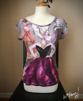 2012 Disney Designer Evil Villain URSULA Fashion Tee Shirt Pre-Owned Rare