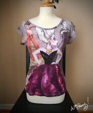 2012 Disney Designer Evil Villain URSULA Fashion Tee Shirt Pre-Owned Rare
