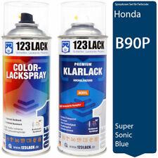 Autolack Lackspray Set Honda B90P SUPER SONIC BLUE + Klarlack