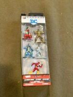 DC Nano Metalfigs Set of 6 Wonder Woman Flash Cyborg Batman Figure NEW MIB