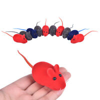 10x Squeaky Squeaker Sound Chew Toy False Mouse Rat For Pet Kitten Puppy Gift md