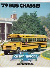 Two 1979 and 1981 CHEVROLET BUS CHASSIS US Brochures SCHOOL BUS