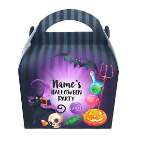 Spooky Halloween Personalised Children Party Boxes Gift Favour 1ST CLASS