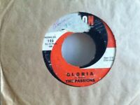 """THE  PASSIONS         7""""  SINGLE ,    JUNGLE  DRUMS  /   GLORIA"""