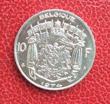 Belgique - Baudouin - Très rare monnaie de 10 Francs 1974 FR  - Frappe Médaille