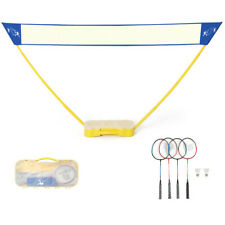 New listing Gymax Portable Badminton Set Folding Tennis Badminton Volleyball Net W/ Stands